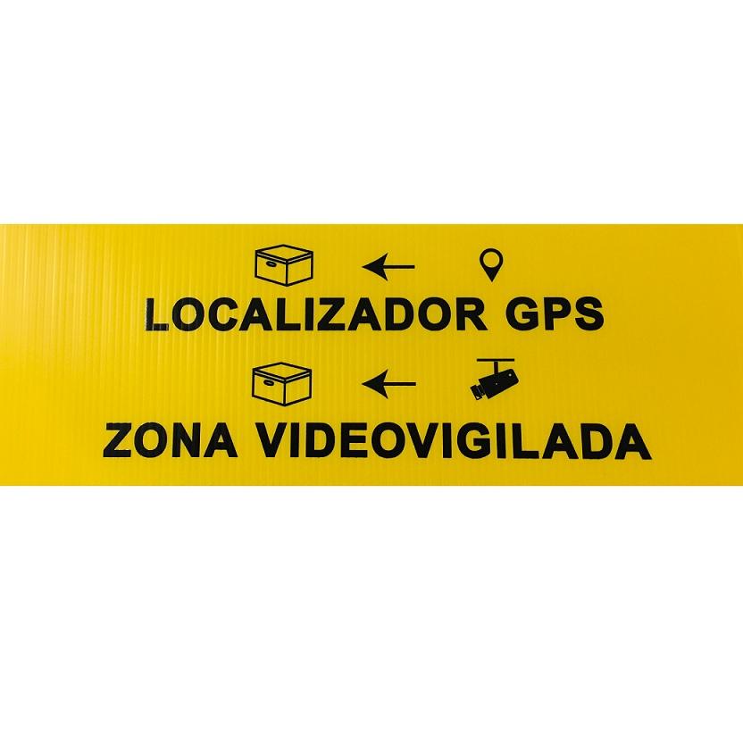Cartel Localizador Gps y Zona Videovigilada