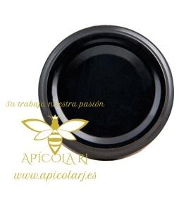 Tapa Negra Tarro Ø77mm