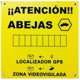 Cartel Atención Abejas Localizador