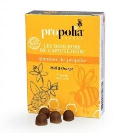 Caramelo Masticable Propoleo Miel y Naranja
